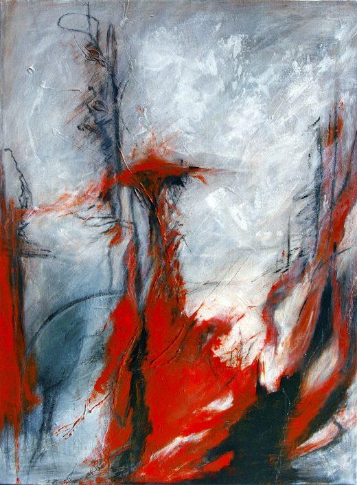 Ursula Schmidt - Abstrakte Malerei - Acrylbild 80 x 60 cm