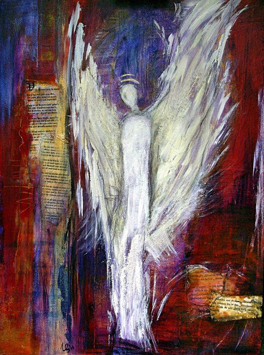Ursula Schmidt - Abstrakte Malerei - Mischtechnik - Collage 80 x 60 cm