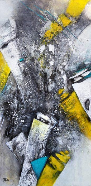 Ursula Schmidt - Abstrakte Malerei - Acrylbild 40 x 80 cm