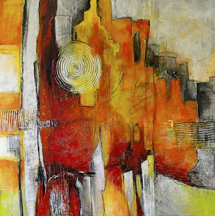 Ursula Schmidt - Abstrakte Malerei - Acrylbild 100 x 100 cm