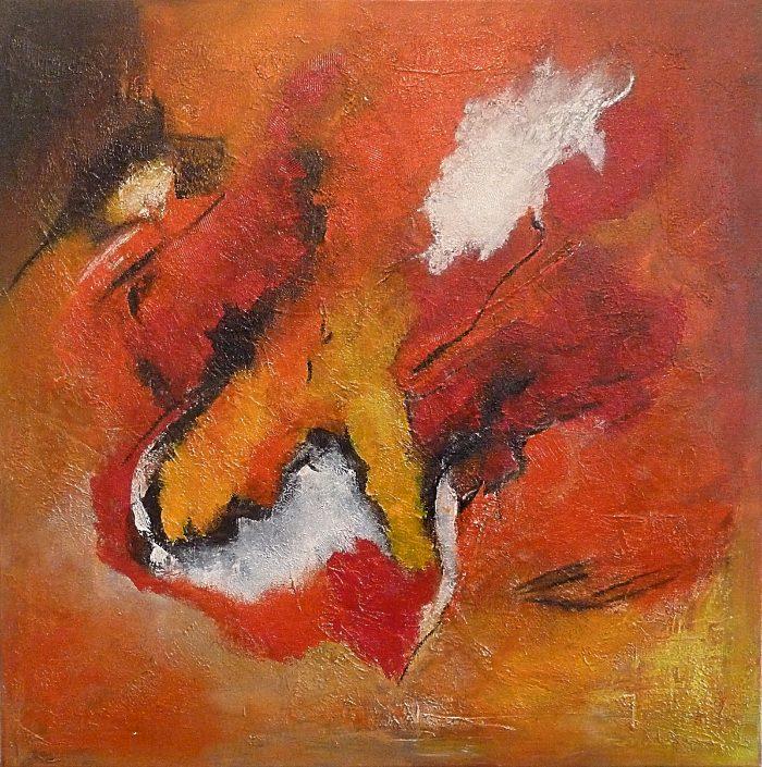 "Ursula Schmidt - Abstrakte Malerei - Acrylbild ""Sand"" 60 x 60 cm"