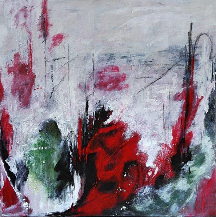 Ursula Schmidt - Abstrakte Malerei - Acrylbild 70 x 70 cm