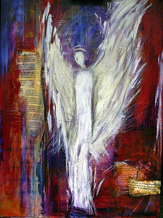 "Ursula Schmidt - Abstrakte Malerei - Acrylbild ""Engel"" 60 x 80 cm"