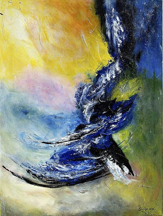 Ursula Schmidt - Abstrakte Malerei - Acrylbild 60 x 80 cm