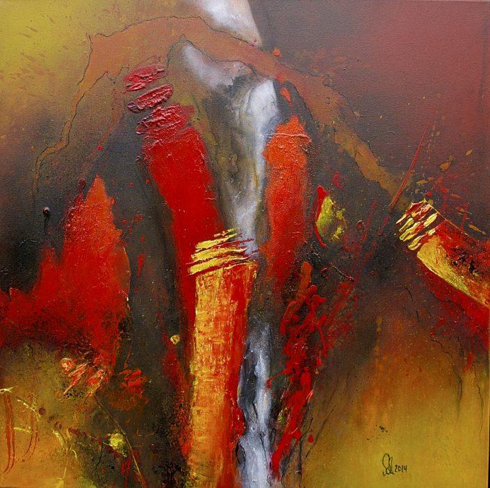 Ursula Schmidt - Abstrakte Malerei - Acrylbild 80 x 80 cm
