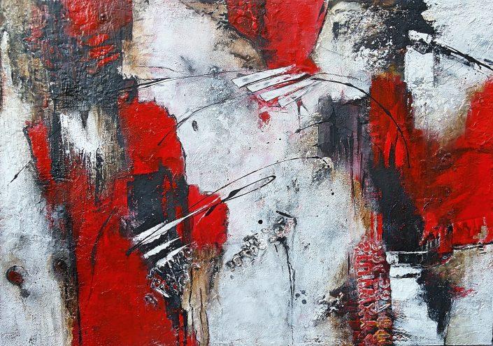Ursula Schmidt - Abstrakte Malerei - Mischtechnik 100 x 70 cm