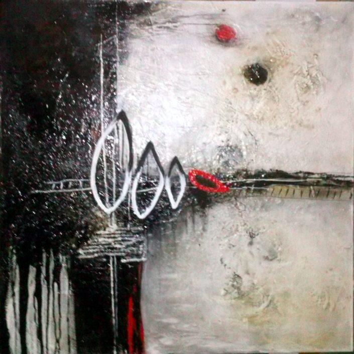 Ursula Schmidt - Abstrakte Malerei - Strukturbild 80 x 80 cm