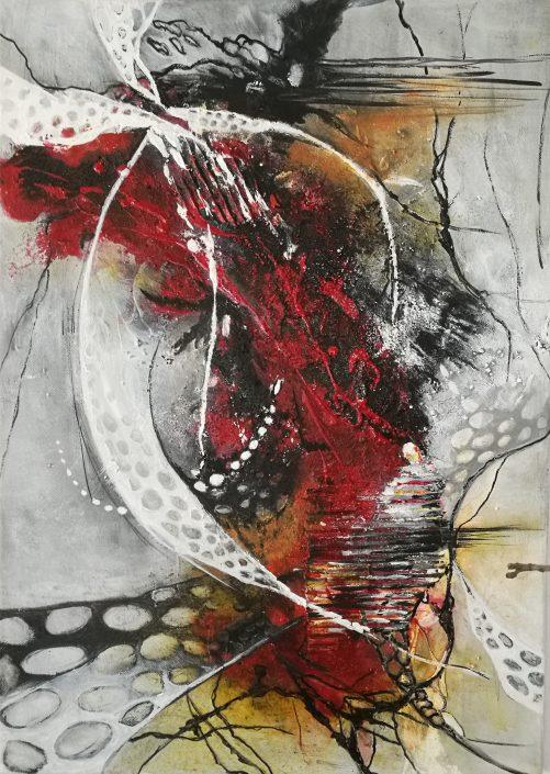Ursula Schmidt - Abstrakte Malerei - Acrylbild - Organisch I - 70 x 50 cm