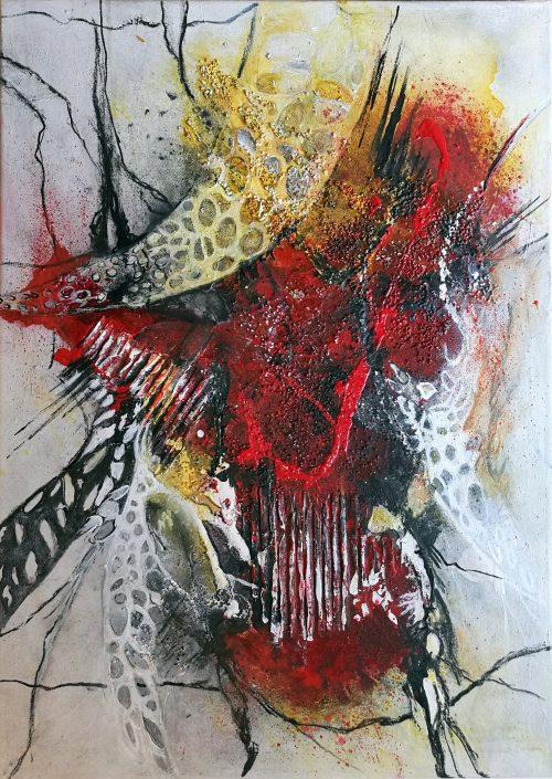 Ursula Schmidt - Abstrakte Malerei - Acrylbild - Organisch II - 70 x 50 cm